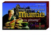 Extract purificat rasina mumie ginseng 30cps Damar
