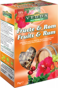 Ceai Fructe si Rom 75g Veda