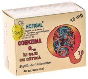 Coenzima Q10 in Ulei de Catina 15mg 40cps Hofigal