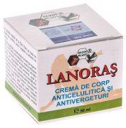 Lanoras Crema Anticelulitica Antivergeturi 50ml Elezin Plant