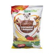 Musli Crunch Banane si Ciocolata 500gr Sanovita