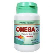 Omega 3 Ulei ficat de Cod 1002mg 30cpr Cosmopharm