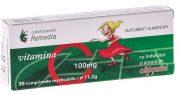 Vitamina C 100mg (Capsuni) pentru Copii 20cpr Remedia